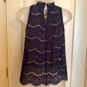 Love, Fire Tops - Blue Sleeveless Top LOVE,FIRE NWT  Lace  XS
